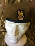 Staff Officers Beret Khaki Brigadier Colonel Beret + Badge