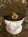 Staff Officers Beret Khaki Field Marshall Beret + Badge