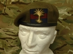 High Quality Welsh Guards Beret + Welsh Guards Cloth Badge + Household Division Patch