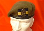 Quality Princess of Wales Royal Regiment Beret PWRR Beret Badge + Beret Flash