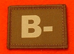 Desert Blood Group Patch B- ( Sand Combat B- Badge ) Velcro Backed