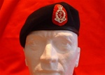 RAMC Beret & Beret Badge ( Royal Army Medical Corps Beret & RAMC Metal Cap Badge + Scarlet Backing