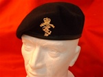 OR`S REME Leather Banded Beret + Metal Beret Badge ER 11 ( REME Silk Lined Beret )