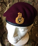 Staff Officers Beret  Maroon Airborne General LT General Major Beret + Badge