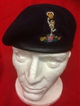Officers Royal Signals Blue Beret + Embroidered Badge