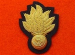 Officers Grenadier Guards Gold Bullion Wire Beret Badge