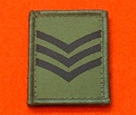 Sergeant Combat Helmet Rank Patch ( CPL Combat Helmet Rank )