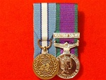Court Mounted United Nations & Northern Ireland Campaign Service  Miniature medals ( NI Medal, UN Cyprus Medal  )