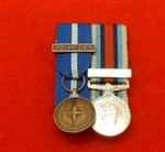 NATO Bosnia None Article 5 OP Herrick OSM Afghanistan Miniature Medals ( Court Mounted medal Group )