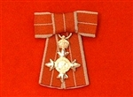 Military MBE Sterling Silver Ladies Bow Type Fitting