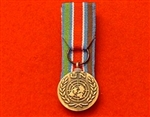 Court Mounted United Nations Bosnia Miniature Medal ( UN Bosnia )