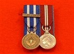 Quality NATO Libya Miniature Medal + Diamond Jubilee Court Mounted Medals