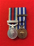 Court Mounted OSM Afghanistan ISAF Miniature Medals