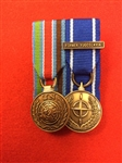 Court Mounted UN Bosnia NATO Bosnia S/FOR Miniature Medals