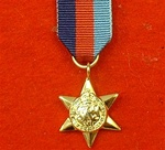 World War 2 1939-1945 Star Miniature Medal