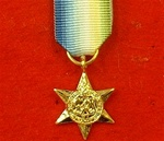 World War 2 Atlantic Star Miniature Medal