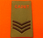 Army Cadet Force SGT Rank Slides ACF CCF Olive Green Rank Slide ACF Rank Slides CCF