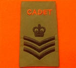 Army Cadet Force S/SGT Rank Slides ACF CCF Olive Green Rank Slide ACF Rank Slides CCF
