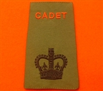 Army Cadet Force WO2 Rank Slides ACF CCF Olive Green Rank Slide ACF Rank Slides CCF