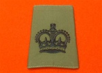 WO2 Olive Combat Slides ( Warrant Officer Class 2 Olive Drab Combat Rank Slides )