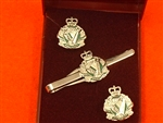 The RIR Cufflinks & Tieslider Box Set ( Royal Irish Regiment ) British Army Cufflinks & Tie Slider.