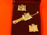 1st BattalionRoyal Anglian Regiment Cufflink and Tie Slider Boxed Set ( RAR Cufflinks and Tie Slider )