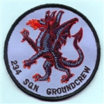 RAF 234 SQN Groundcrew (Round) insignia Badge