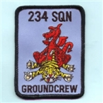 RAF 234 SQN Groundcrew (Square) insignia Badge