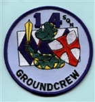RAF 14 SQN Ground Crew Badge ( 14 Squadron Ground Crew Badge )