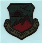 RAF 142 FW Embroidered Badge ( 142 FW Embroidered Badge )