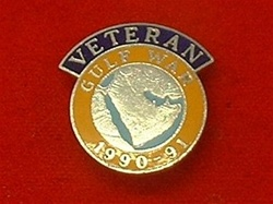 Enamel Gulf War 1 Veterans Badge 1990-91