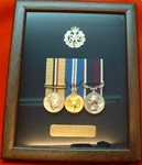 RAF Medals Frame ( Box Frame + RAF Badge + Plaque Presentation Case ) Dark Wood RAF Frame