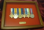 Military Medals Frame ( Presentation Frame + Plaque Box Frame ) 5-9 Medals