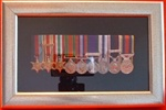 Design 25 Box Medal Frame Accommodates 3-9 Miniature Medals Silver