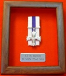 Design 26 1-3 Full Size Medals + Siver Plaque Framed