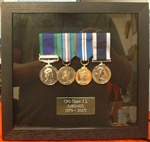 Military Medal Box Frame Design 27 Black Wood Finish Navy Type Frame