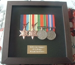 Black Wood  Finish Medal Frame + Plaque Dresign 32
