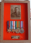 Design 40 Walnut Veneer World War 11 Medal Box Frame ( Military Frames )