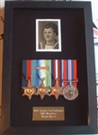 Design 44 World War Navy Black Wood Box Frame ( Medal Frame )
