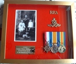 Design 45 WW1 Trio Gold Medal Box Frame ( Military Frames )