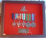 Design 48 Military Medal Frame ( Dark Wood Box Frame )