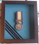 Officers Royal Air Force Medal Box Frame Design 54 Dark Wood Finish To Fit 1 x Medal Group + Officer's Rank Braid.