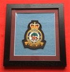 RAF 230 SQN  Embroidered Crest in Black Wood Frame