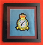RAF 1312 Flight Embroidered Crest in Black Wood Frame