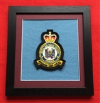 RAF Odiham Crest in Black Wood Frame