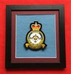 27 SQN RAF Regiment Official  Crest in Black Wood Frame
