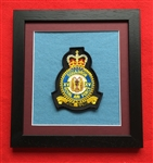 RAF 15 SQN Crest in Black Wood Frame