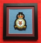 RAF 12 Bomber SQN Crest in Black Wood Frame