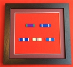Quality Black Wood Medal Ribbon Bar Frame Choose Your Own 5 x Medal Ribbon Bars.