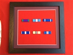 Quality Black Wood Medal Ribbon Bar Frame Choose Your Own 6 x Medal Ribbon Bars.